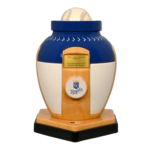 Kansas City Royals Baseball Cremation Urn