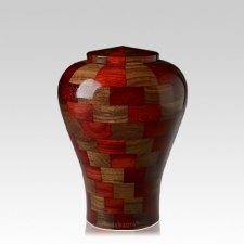 Karlo Medium Wood Urn