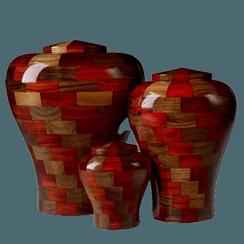 Karlo Wood Cremation Urns