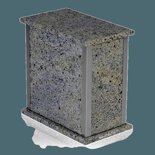 Kasmir White Silver Marble Urn