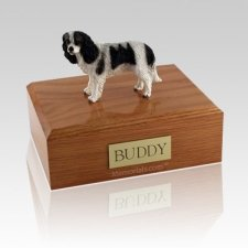 King Charles Spaniel Black Large Dog Urn