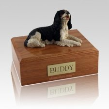 King Charles Spaniel Black Laying Dog Urns