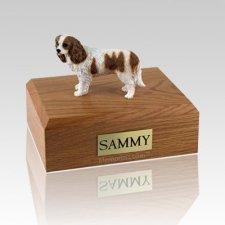King Charles Spaniel Brown & White Large Dog Urn
