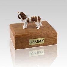 King Charles Spaniel Brown & White Medium Dog Urn