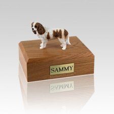 King Charles Spaniel Brown & White Small Dog Urn
