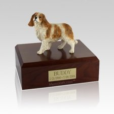 King Charles Spaniel Standing Medium Dog Urn