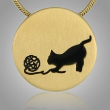 Kitty Signet Bronze Keepsake Pendant