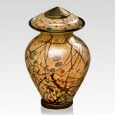 Klimt Glass Pet Urn