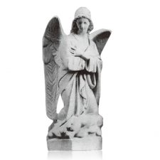 Kneeling Angel Left Marble Statues