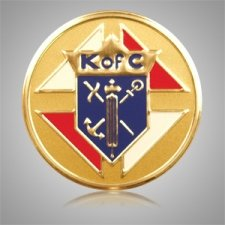 Knights of Columbus Round Medallion Appliques