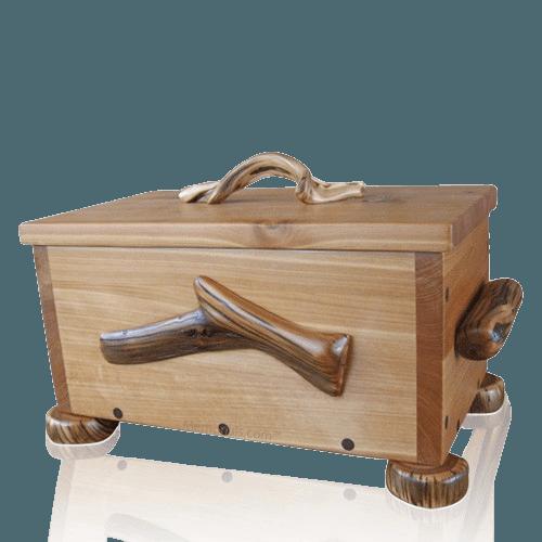 Rubezahl Juniper Wood Urn for Two