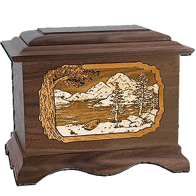 Lakeside Walnut Cremation Urn For Two
