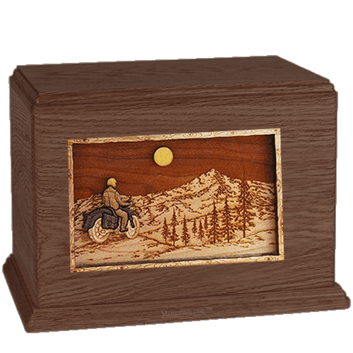 Last Motorcycle Ride Walnut Companion Urn