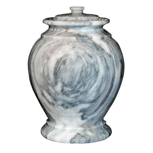 Cashmere Gray Marble Urn II