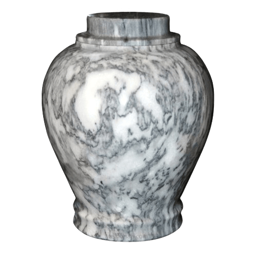 Cashmere Gray Marble Urn