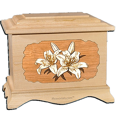 Lily Maple Cremation Urn for Two