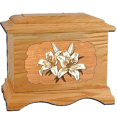 Lily Oak Cremation Urn for Two