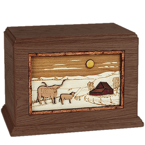 Longhorn Walnut Companion Urn