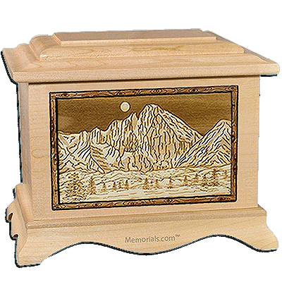 Longs Peak Maple Cremation Urn For Two