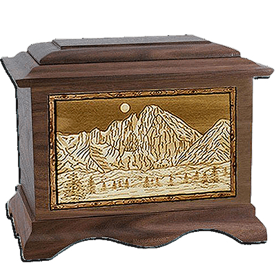 Longs Peak Walnut Cremation Urn For Two