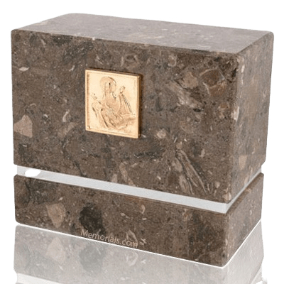La Nostra Brown Silver Urn For Two