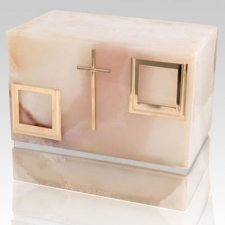 La Nostra Mink Onyx Silver Urn For Two
