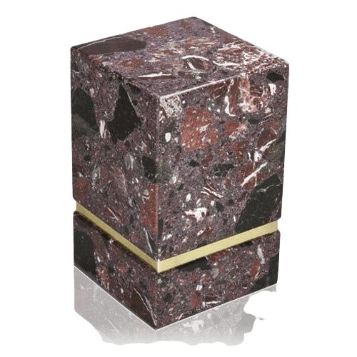 La Nostra Rosso Levanto Marble Cremation Urns