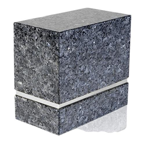 La Nostra Silver Blue Pearl Granite Companion Urn