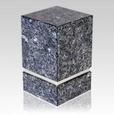 La Nostra Silver Blue Pearl Granite Urn