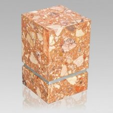 La Nostra Silver Breccia Marble Cremation Urns