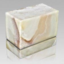 La Nostra Silver Mink Marble Companion Urn