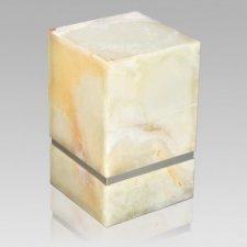 La Nostra Silver Mink Marble Urn