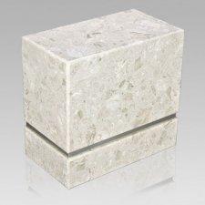 La Nostra Silver Perlato Marble Companion Urn