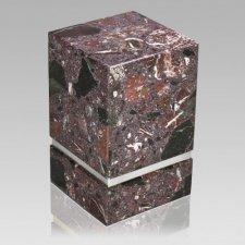 La Nostra Silver Rosso Levanto Marble Urn