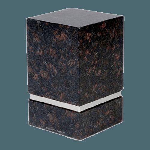 La Nostra Silver Tan Brown Granite Urn