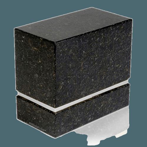 La Nostra Silver Verde Granite Companion Urn