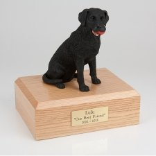 Labrador Black Medium Dog Urn