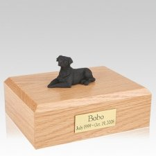 Labrador Black Laying Dog Urns