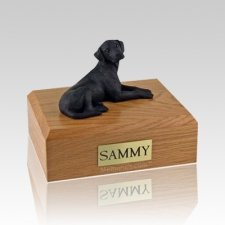 Labrador Black Resting Large Dog Urn