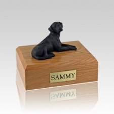 Labrador Black Resting Medium Dog Urn