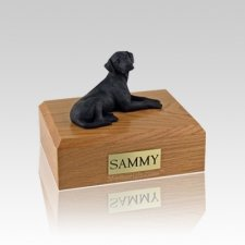 Labrador Black Resting Small Dog Urn