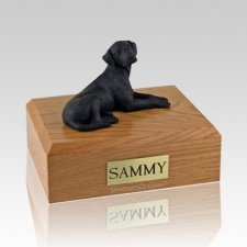 Labrador Black Resting X Large Dog Urn