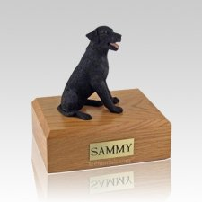Labrador Black Sitting Large Dog Urn