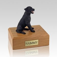 Labrador Black Sitting Dog Urns
