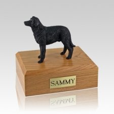 Labrador Black Standing Medium Dog Urn