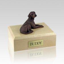 Labrador Chocolate Laying Large Dog Urn