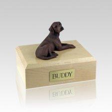 Labrador Chocolate Laying Medium Dog Urn
