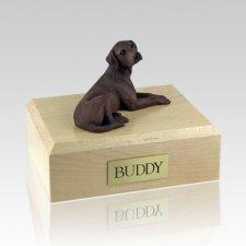 Labrador Chocolate Laying Dog Urns