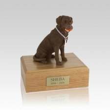Labrador Chocolate Playing Medium Dog Urn