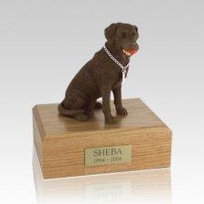 Labrador Chocolate Playing Dog Urns